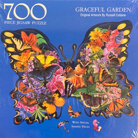 Graceful Garden with Special Shaped Pieces 700 Piece Jigsaw Puzzle by Russell Cobane