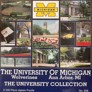 The University Collection University of Michigan 500 Piece Jigsaw Puzzle