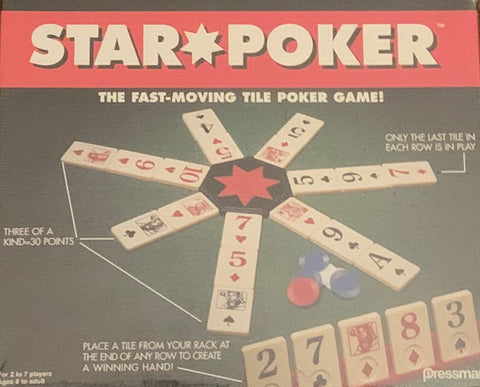 Pressman Star Poker Game book books