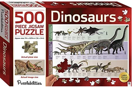 Puzzlebilities Dinosaurs: 500 Piece Jigsaw Puzzle