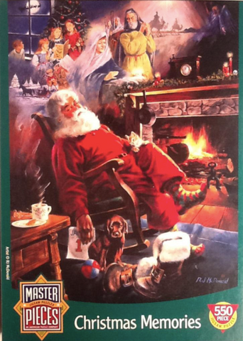 MasterPieces Christmas Memories Art of RJ McDonald Santa 550 Piece Jigsaw Puzzle