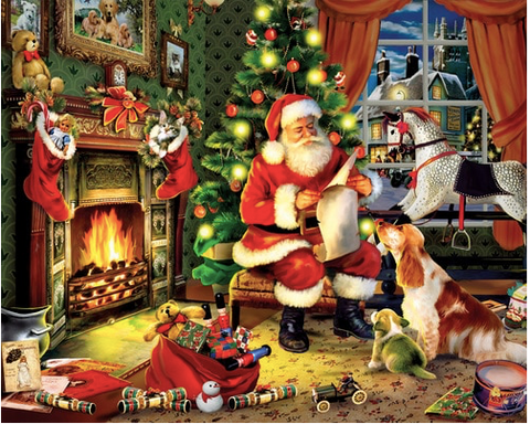 White Mountain Santa's List 300 EZ Hold Jigsaw Puzzle
