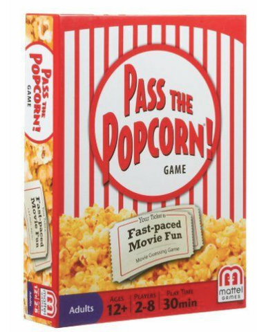 Mattel Pass The Popcorn! Fast Paced Movie Guessing Clue Game