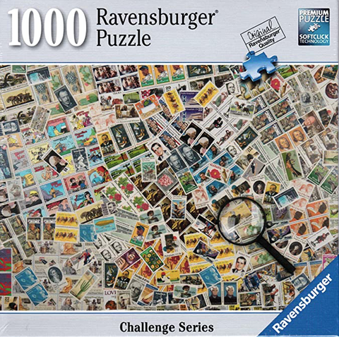 Ravensburger Stamp Challenge Series 1000 Piece Puzzle, Open Box