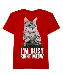 Jem Boys 'I'm Busy' Graphic T-Shirt, Red, 3T