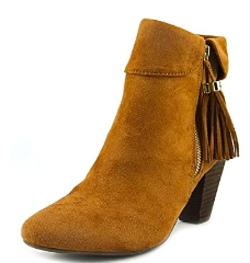 Report Moriah Women Round Toe Suede Brown Ankle Boot, Tan, 7 M
