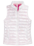 Ideology Quilted Puffer Vest, Big Girls, White,