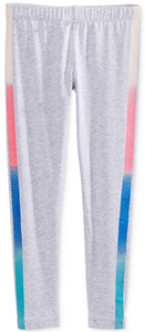 Epic Threads Rainbow-Stripe Tuxedo Leggings Lt Grey Heather
