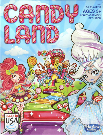 "Hasbro Candy Land Game ""magical"" road to ""sweet"" surprises!"
