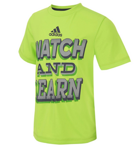 Soccer, sport Adidas Boy Graphic‑Print T‑Shirt, Neon Green, Size XL (18/20)