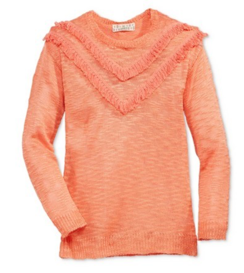 Pink Republic Girls' Sweater, Apricot Cosmos, Medium