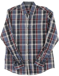 Tasso Elba Men's Button Down Langley Plaid Shirt, Small