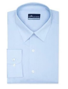 John Ashford Men's Regular-Fit Easy-Care Dress Shirt, Solid Light Blue