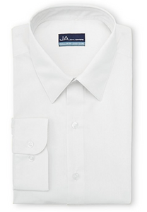 John Ashford Men's Regular-Fit Easy-Care Dress Shirt, Solid White, 16 1/2 (34/35)