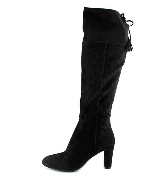 INC International Concepts Hadli Women Synthetic Black Over The Knee Boot, 6.5 M