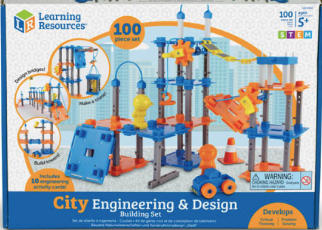 Learning Resources City Engineering and Design Building Set, 100 Pieces