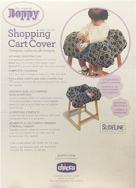 The Original Boppy Shopping Cart Cover, Black