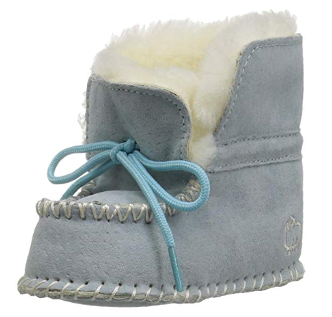 Lamo Kids' Baby Moc, Blue, Large, Warm