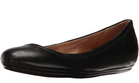 Naturalizer Women's Brittany Ballet Flat, Black, 7 M