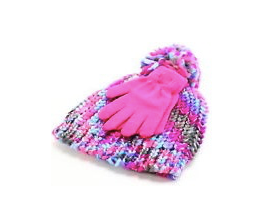 Capelli Kids Hat and Gloves Set - Pink, Multicolor, 2pcs, Small and Medium