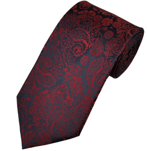 The Men's Store Bloomingdale's N8859BO, Navy/Red Classic Tie
