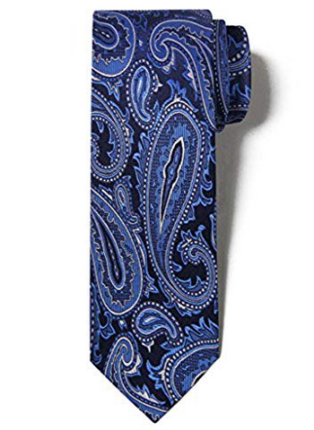 The Men's Store Bloomingdale's Paisley Navy/Blue Tie