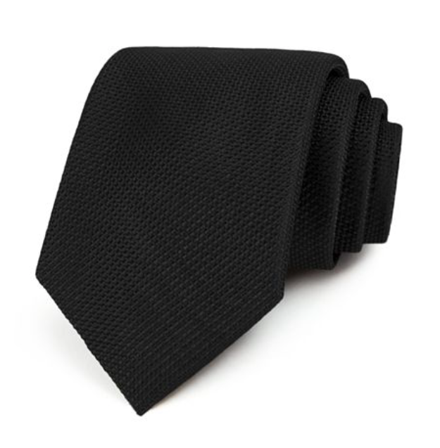 The Men's Store Boomingdale's 100% Silk Tie, Black