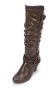 RIALTO Women's Crystal Closed Toe Mid-Calf Fashion Boots