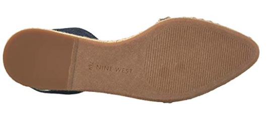 Nine West Women's Unah Denim Pointed Toe Flat, 6 M US