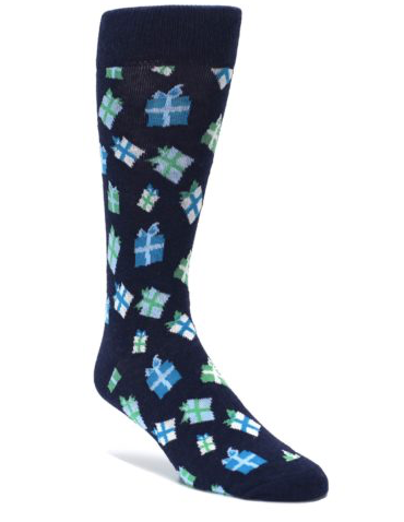 Happy Socks Men's Dress Socks Christmas Gift Boxes, Navy, Size 9-11