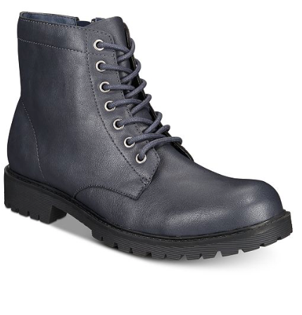 Club Room Men's Landonn Boots, Navy, 11 M