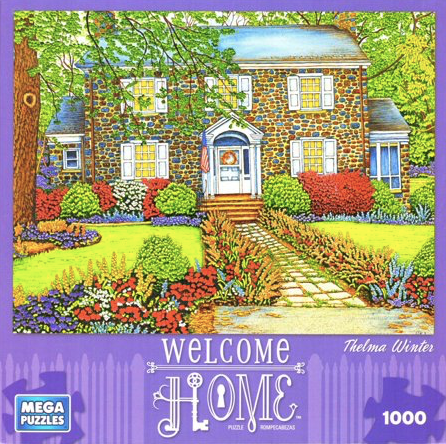 Mega Puzzles Welcome Home Puzzle- Historic Home 1000 Piece Jigsaw Puzzle By Thelma Winter