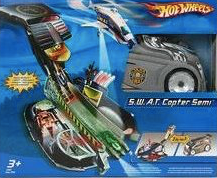 Hot Wheels S.W.A.T. Copter Semi Playset