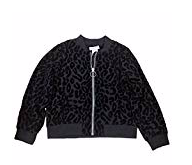 Little Girls' Burnout Bomber Jacket Deep Black 6