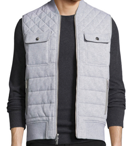 Michael Kors Men's Quilted Knitted Vest - Grey