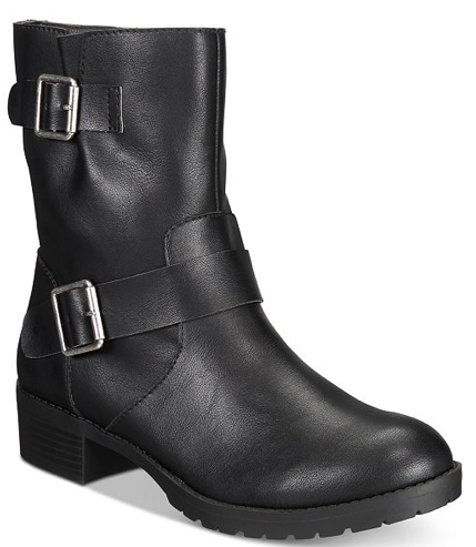 Style & Co Gianara Moto Womens Booties