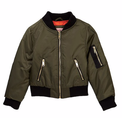 Urban Republic Poly-Twill Flight Bomber Jacket (Little Boys)
