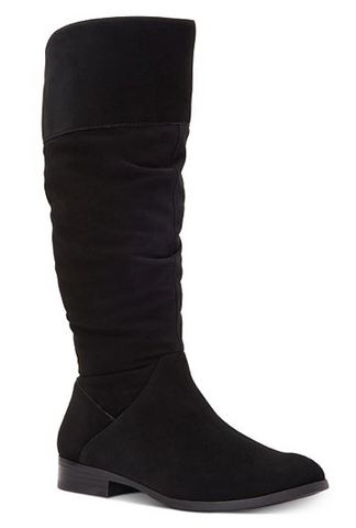 Style & Co Kelimae Scrunched Boots, Black, 9.5 US
