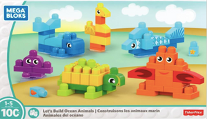 Mega Bloks Let's Build Ocean Animals Building Blocks Building Kit