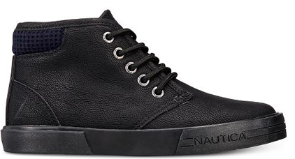 Nautica Boys Breakwater Chukka Sneakers, Black, 2 US