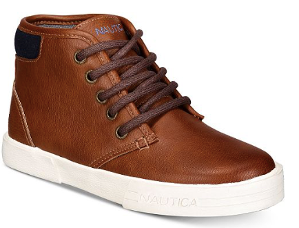 Nautica Youth Breakwater Chukka Sneakers, Tan, 5 US