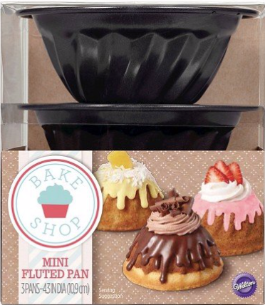 Wilton 3 Piece Mini Fluted Cake Pan Set