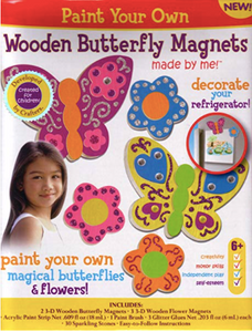 Paint Your Own Wooden Butterfly Magnets by Horizon