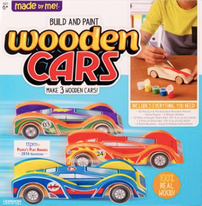 Made By Me Wooden Cars Craft Kit by Horizon Group USA