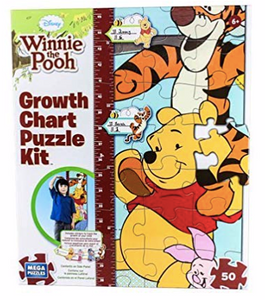 Disney Winnie the Pooh Growth Chart Puzzle Kit by Mega Puzzles