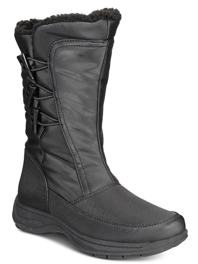 Sporto Dana Womens Water-resistant Boots, Black, 7 M