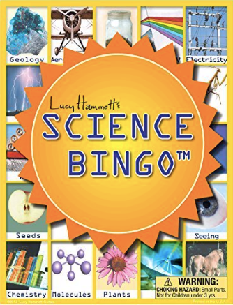 Science Bingo Game by Lucy Hammett Games