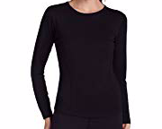 32 Degrees Weatherproof Womens Long Sleeve Scoop Neck Base Layer, Black, Small