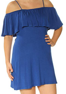 No Comment Womens Flare Dress, Blue
