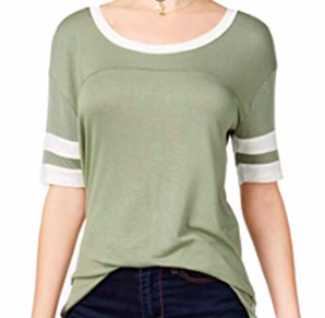Ultra Flirt Juniors' Rugby-Stripe High-Low Tunic, Vetiver Gardenia